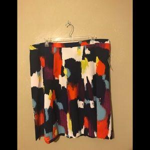 Ava & Viv, skirt multicolored size 22W. Polyester